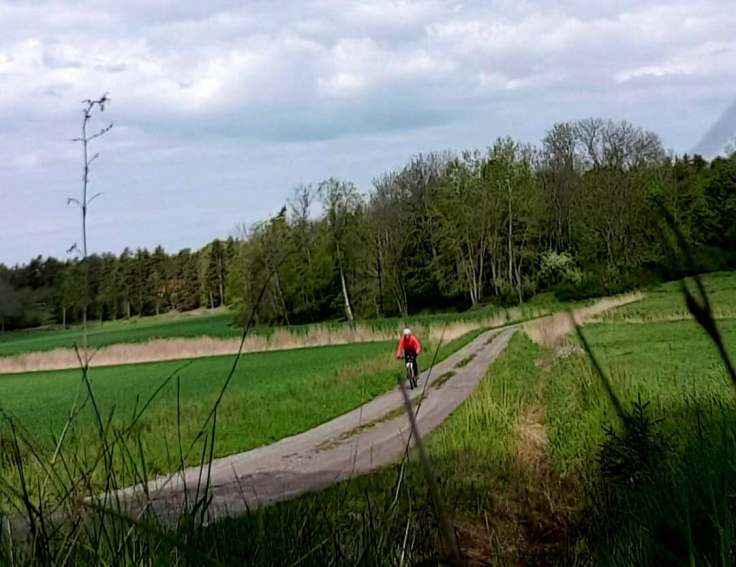 Mountainbiking on small roads on the country side just outside Stockholm, close to where I live.