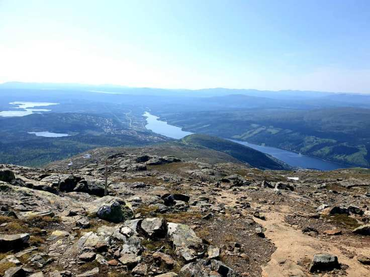 View from Åreskutan to Åre lake, Sweden.
