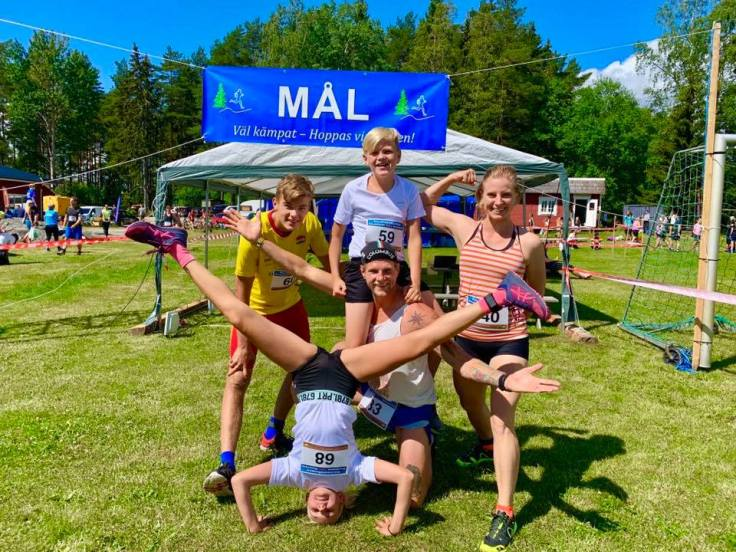 The whole family is very excited to run Kolmården Trail Run, Sweden.